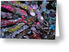 My Hair Jewels  Greeting Card by Jelena Ignjatovic