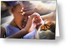 My Little Butterfly Greeting Card by Bob Salo