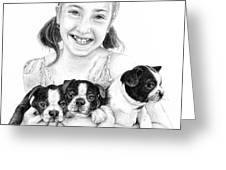 My Puppies Greeting Card by Mike Ivey