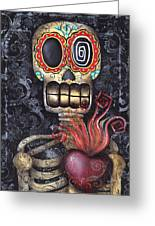 My Sacred Heart Greeting Card by  Abril Andrade Griffith