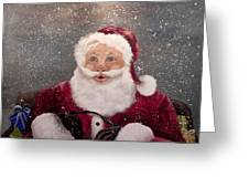 My Santa Greeting Card by Laura Brown