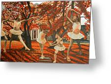 My Spirit Rises In Fall Greeting Card by Amira Najah Whitfield