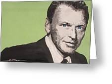 My Way - Frank Sinatra Greeting Card by Eric Dee