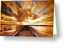 My Way Greeting Card by Photodream Art