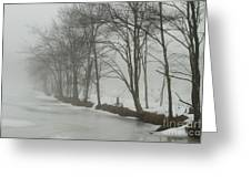 Mysterious Winter  Greeting Card by Karol  Livote
