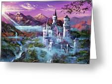 Mystery Castle Greeting Card by David Lloyd Glover