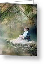 Mystic Contemplation Greeting Card by Mary Hood