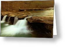 Mystical King River Falls Greeting Card by Iris Greenwell