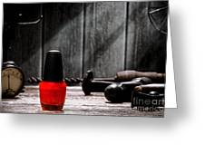 Nail Polish Greeting Card by Olivier Le Queinec