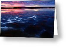 Namekus Lake Sunrise Greeting Card by Larry Ricker