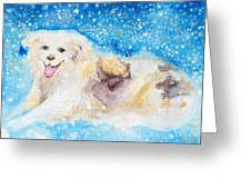 Nanny Bliss Greeting Card by Ashleigh Dyan Bayer