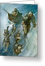 Nansen Conqueror Of The Arctic Ice Greeting Card by James Edwin McConnell