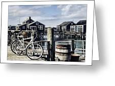Nantucket Bikes 1 Greeting Card by Tammy Wetzel