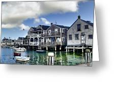 Nantucket Harbor In Summer Greeting Card by Tammy Wetzel
