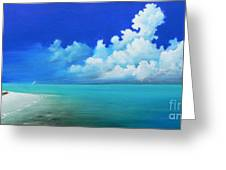 Nap On The Beach Greeting Card by Susi Galloway
