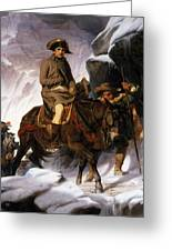 Napoleon Crossing The Alps Greeting Card by Hippolyte Delaroche