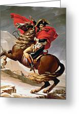 Napoleon Crossing The Alps Greeting Card by Jacques Louis David