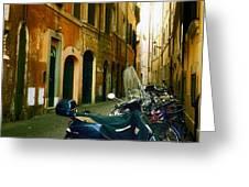 narrow streets in Rome Greeting Card by Joana Kruse