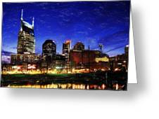 Nashville At Twilight Greeting Card by Dean Wittle