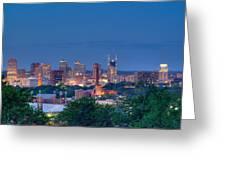 Nashville By Night 1 Greeting Card by Douglas Barnett