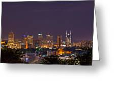Nashville By Night 3 Greeting Card by Douglas Barnett