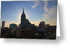Nashville Skyline Greeting Card by Susanne Van Hulst