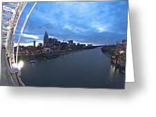 Nashville Skyline Greeting Card by Sven Brogren