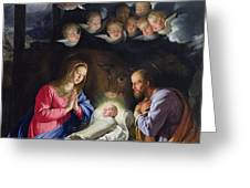 Nativity Greeting Card by Philippe de Champaigne
