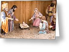 Nativity Scene Greeting Card by Thomas R Fletcher