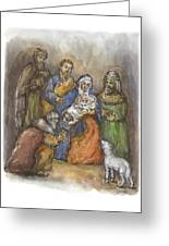 Nativity Greeting Card by Walter Lynn Mosley