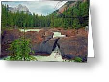 Natural Bridge Greeting Card by Crystal Garner