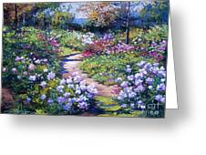 Nature's Garden Greeting Card by David Lloyd Glover
