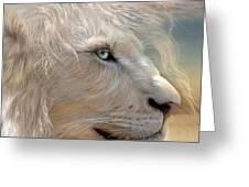 Nature's King Portrait Greeting Card by Carol Cavalaris