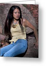 Navajo Model Greeting Card by Joel Gilgoff