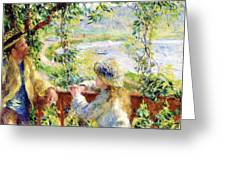 Near the Lake Greeting Card by PG REPRODUCTIONS