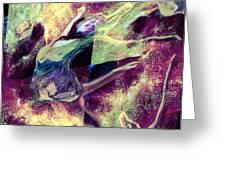 Nebula Dance Greeting Card by Shelley Bain
