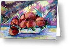 Nectarines Greeting Card by Mindy Newman