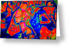 Ned Kellt Gang Art - Blue Seeya Greeting Card by J Kamaru