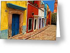 Neighbors Of The Yellow House Greeting Card by Olden Mexico