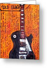 Neil Young's Old Black Greeting Card by Karl Haglund