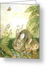 Nesting Bunnies Greeting Card by Patricia Pushaw