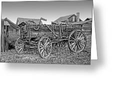 Nevada City Montana Freight Wagon Greeting Card by Daniel Hagerman