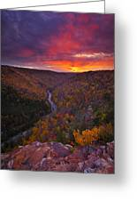 Neverending Autumn Greeting Card by Joseph Rossbach