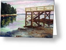 New Dock At Saturday Cove Beach Greeting Card by Laura Tasheiko