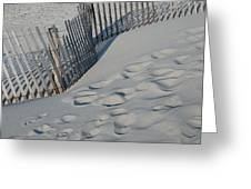 New England Footprints Greeting Card by Gene Sizemore