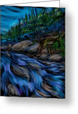 New England Stream Greeting Card by Russell Pierce