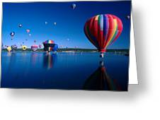 New Mexico Hot Air Balloons Greeting Card by Jerry McElroy