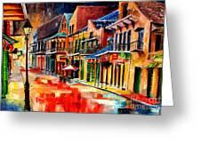 New Orleans Jive Greeting Card by Diane Millsap