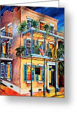 New Orleans' La Fitte's Guest House Greeting Card by Diane Millsap