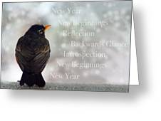 New Years Card Greeting Card by Lisa Knechtel